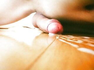 Teen boy masturbate on the floor