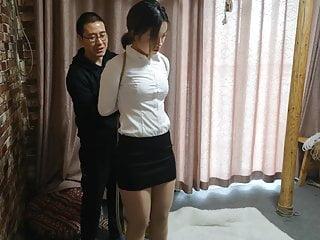 Hogtied and ballgag (asian-bondage.com)