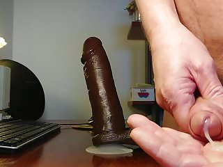 Deepblow fat black cock and lick cum dirtyoldman100001...