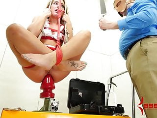 Nurse savannah fox fucked and dropped onto huge...