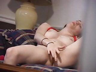 Peeping at a girl masturbating herself