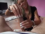 LONG FRENCH NAILS HANDJOB
