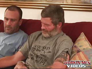 Hairy older having fun in threesome...