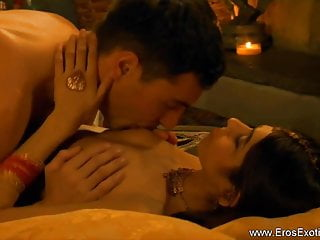 Romantic Indian Couple Making Love With Passion