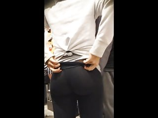 Candid Mall Spandex Booty