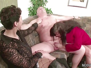 German milf and with in threesome...