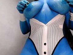 artistic. bluegirl. smurf. big tits. Porn Videos
