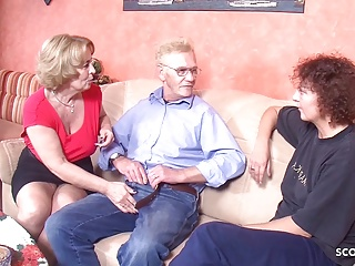 grandpa fuck two german old woman in threesome tabooPorn Videos