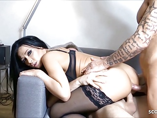 Hottest MILF Sex Foursome JackyLawless German Anal at DP