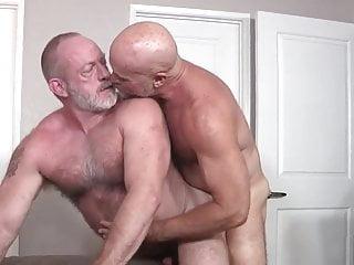 two hot daddies fuck bareback