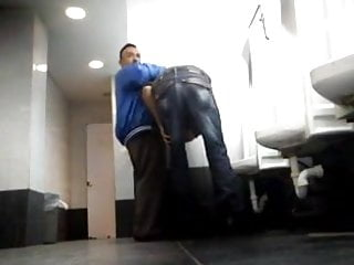little daddy Sexy in blowjob public moustached toilet gets