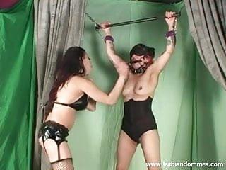 Bondage punishment and tits pain...