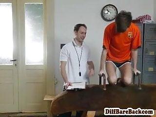 Dilf coach barebacking skinny students ass...
