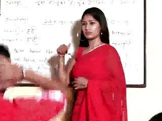 Instructor in Purple Erotic Saree