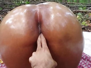 Colombian babe gets fucked woods...
