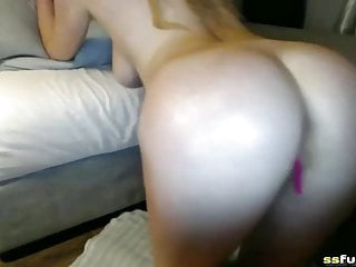 Blonde babe boobs solo show...