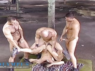Raw muscle foursome...