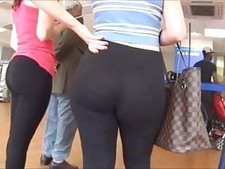 Spy and Voyeur hot butt girl legging pants