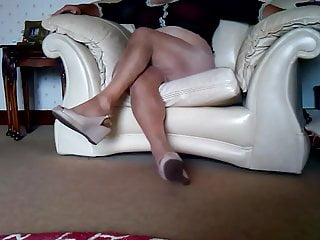 Cum in glossy and wedges x...