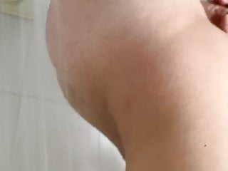 Shower ass water dripping tease