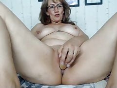 Mature beauty playing for webcam