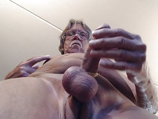 strokin' my cock again and cumming on the cam lens