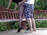 Amateur Asian MILF Hving Sex Outdoors