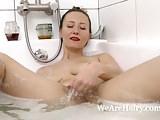 Solena Sol enjoys a sexy bath and masturbates