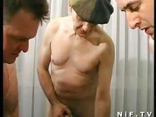 Hairy french mature gangbanged covered...