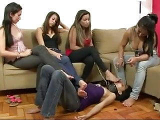 Four lesbians humiliate girl foot fetish...