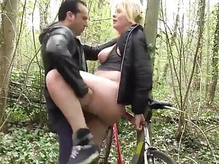 Blonde Wife Gets Fucked in Public Park