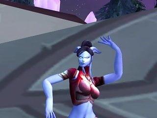 (World Female of sexy dance Draenei Warcraft)