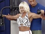 german pierced muscle mom roug gym banged