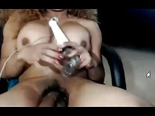 Ebony tranny masturbate huge dick...