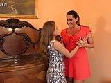 POSH Busty mother seducing teen daughter