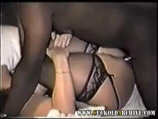 Cuckold MILF nailed by black guys in the hotel room