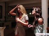 Busty lesbians Capri Cavanni and Nicole Aniston toying pussi