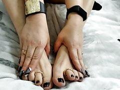 Russian milf mature mommy AimeeParadise: foot-fetish...