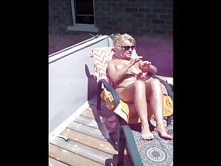 Caryl Loves Solar Tanning Topless