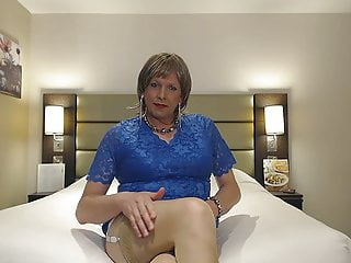 Blue dress nylons...