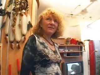 German granny turns into slut in her home...