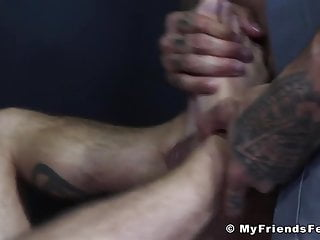 Police officer worships and licks prisoners big sweaty...