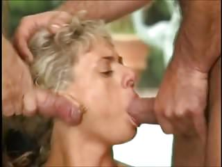 Hard outdoor orgy with pissing...