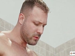 Austin Wolf in a sauna