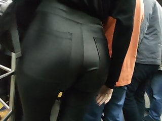 Big leather tight in ass pants