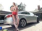 Car Wash Big Tit Brunette