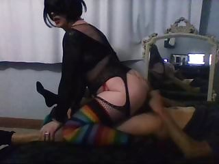 Shemale slut nely good cock sucking...