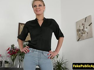Casting beauty booty spunked on casting couch...