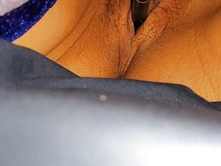 Playing with wife pussy