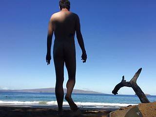 God walks into water beach...